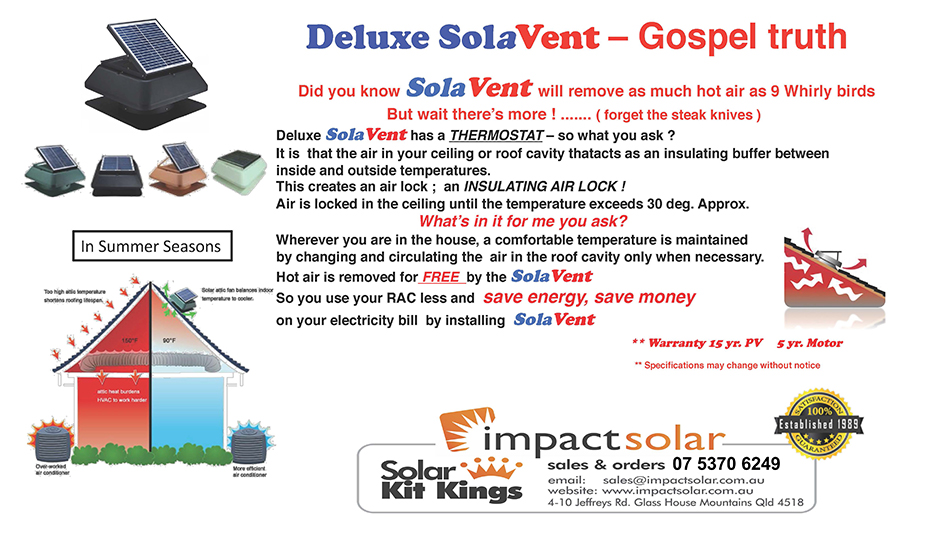 Solar Roof Vents